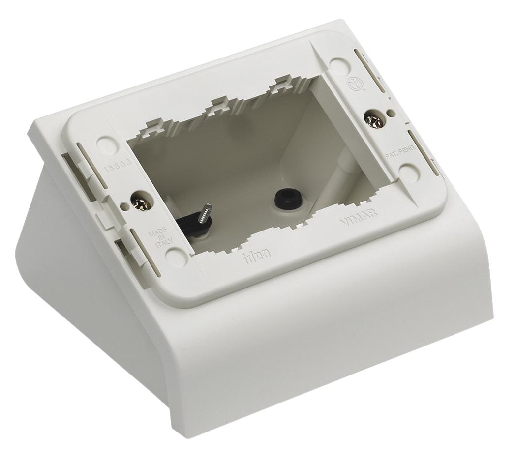 Da tavolo scatola da tavolo 3m bianco 16803 b idea - Scatola portafrutti da tavolo ...